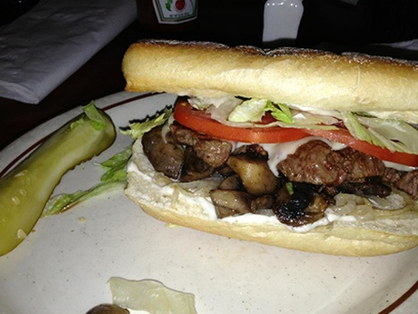 Filet mignon sandwich